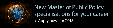 New Master of Public Policy specialisations for your career. Apply now for 2018