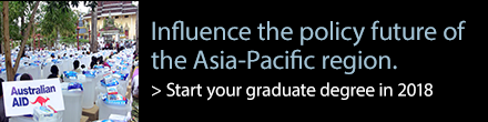 Influence the policy future of the Asia-Pacific region. Start your graduate degree in 2018.