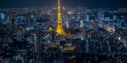 Tokyo skyline from the Roppongi Hills sky deck