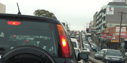 Traffic jam in Sydney