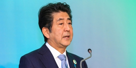A photo of Shinzo Abe