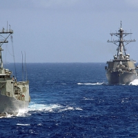 HMAS Canberra and USS Fitzgerald