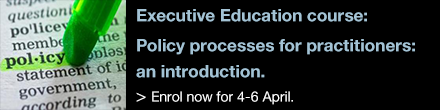 Enrol into Policy processes for practitioners: an introduction now!